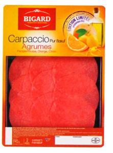 Bigard  Carpaccio saisonnalité recette de l'été aux agrumes