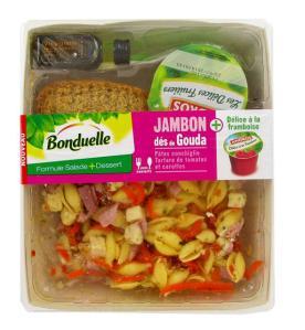 Salade composée Entrée+Plat+Dessert Bonduelle